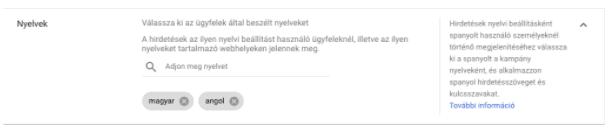 google-ads-alapok-nyelvi-beállítások